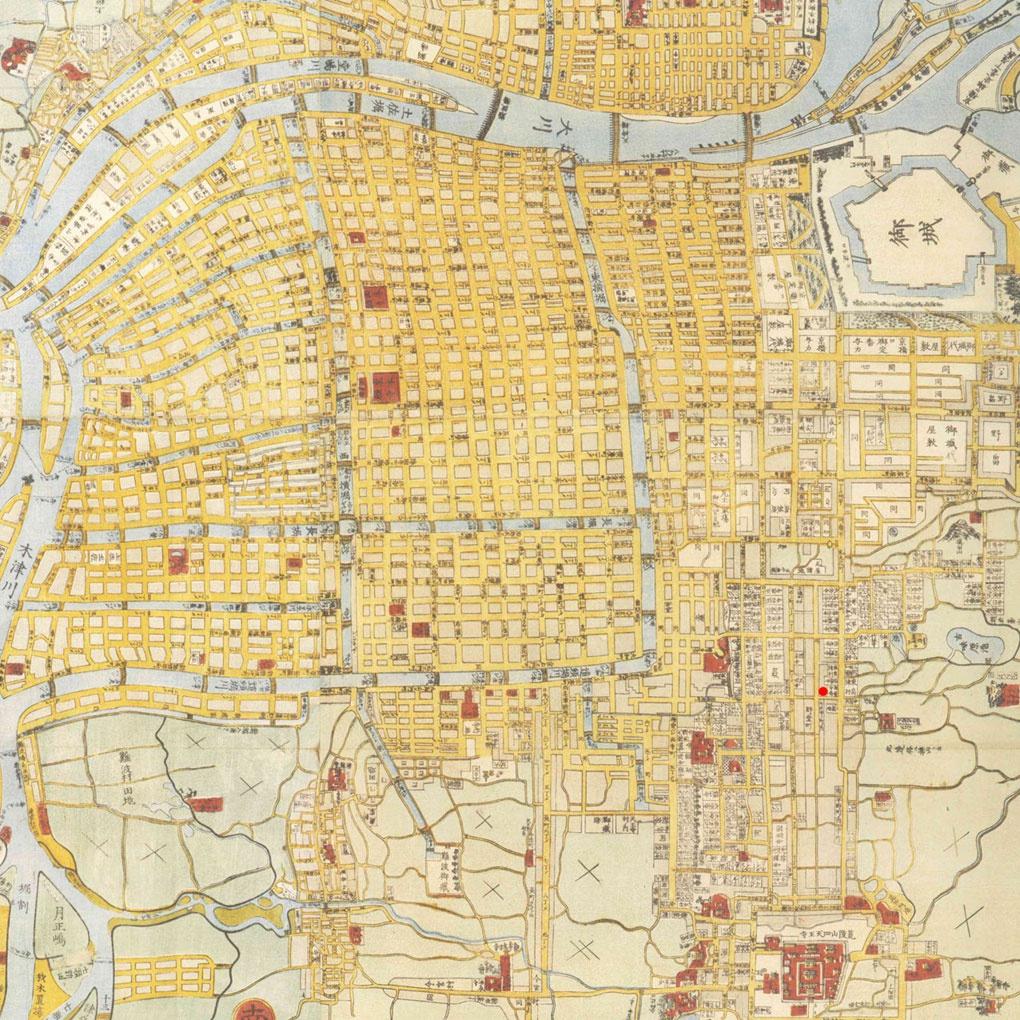 会社周辺地図(文久3年・1863年) (エキスパンド屋どっとネット)